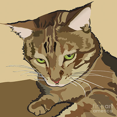 Painting - Bengal Kitty Pet Portrait by Robyn Saunders