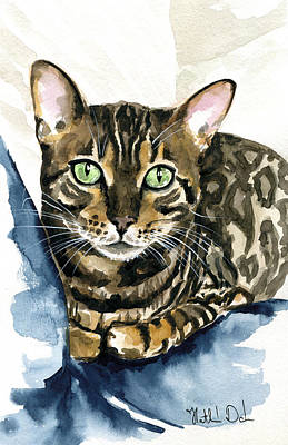 Painting - Bengal Perfection - Cat Painting by Dora Hathazi Mendes