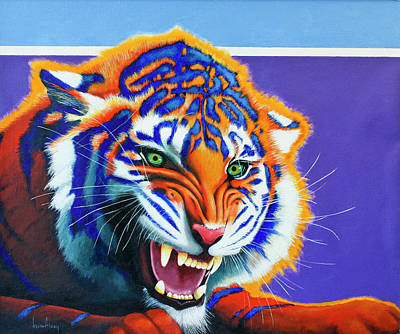 Shark Art - Bengal Snarl  by Keith Alway