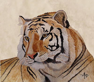 Detroit Tigers Art Painting - Bengal Tiger by Angeles M Pomata