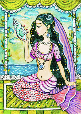 Painting - Bengali Seashell by Eva Campbell