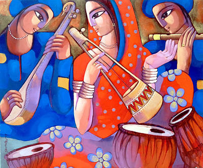 Painting - Bengali Tune Baul by Sekhar Roy