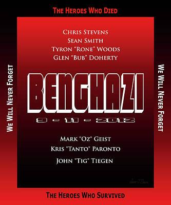 Benghazi 9-11-2012 Art Print by Robert J Sadler