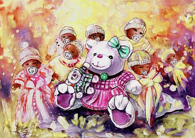 Benidorm Bears And Babies Art Print
