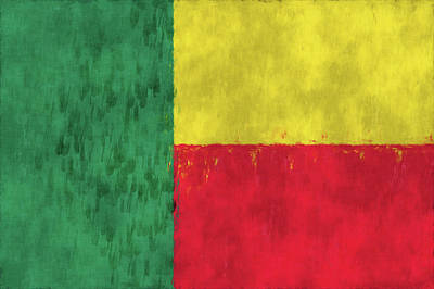 Togo Digital Art - Benin Flag by World Art Prints And Designs