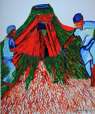 Painting - Benin Traditional Dance by Gloria Ssali