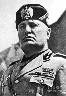 Photograph - Benito Mussolini 1883-1945. For Licensing Requests Visit Granger.com by Granger