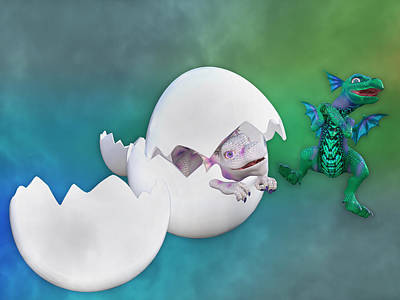 Hatchlings Digital Art - What Fun by Betsy Knapp
