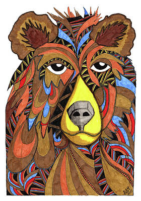 Drawing - Benjamin Bear by Barbara McConoughey
