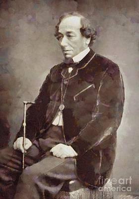 Benjamin Disraeli, Prime Minister United Kingdom By Sarah Kirk Art Print