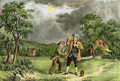 Painting - Benjamin Franklin, 1706-1790 by Granger