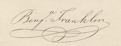 Franklin Drawing - Benjamin Franklin, 1706-1790 by Vintage Design Pics