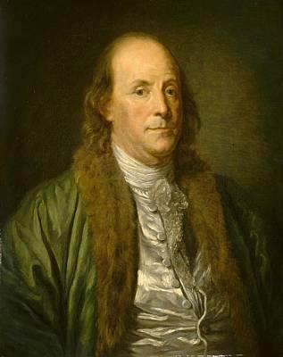 Ben Franklin Painting - Benjamin Franklin by After Jean-baptiste Greuze