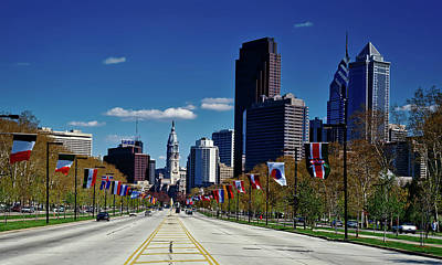 Benjamin Franklin Parkway - Philadelphia Art Print by Mountain Dreams