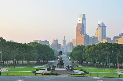 Photograph - Benjamin Franklin Parkway - Philly by Bill Cannon