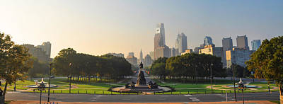 Benjamin Franklin Parkway Digital Art - Benjamin Franklin Parkway View by Bill Cannon