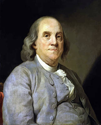 U.s Painting - Benjamin Franklin by War Is Hell Store