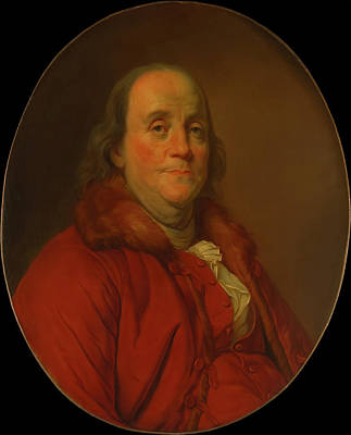 Painting - Benjamin Franklin by Workshop Of Joseph Duplessis