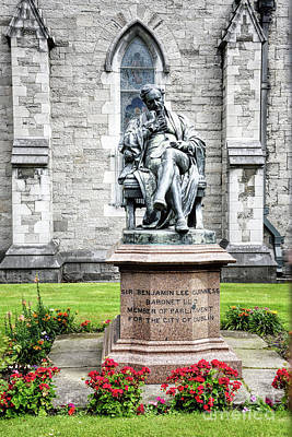 Photograph - Benjamin Guiness Statue At St Patricks Cathedral Dublin Ireland by Vizual Studio