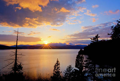 Sunset Wall Art - Photograph - Bennet Bay by Idaho Scenic Images Linda Lantzy