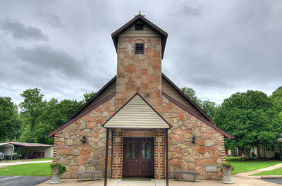 Photograph - Bennett Spring Church by Steve Stuller