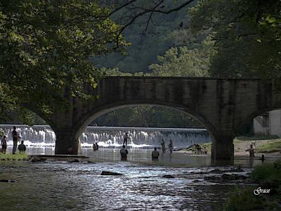 Bennett Springs Bridge Art Print