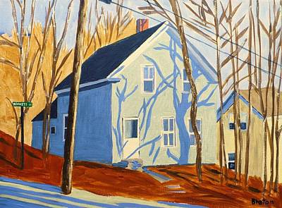 Maine Painting - Bennett Street Houses by Laurie Breton