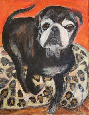 Painting - Bennie The Pug by Denice Palanuk Wilson