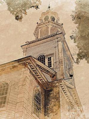 Photograph - Bennington, Vt - Congregational Church by Marcia Lee Jones