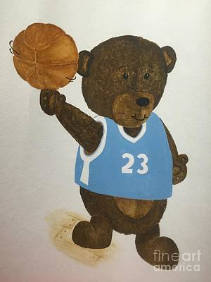 Painting - Benny Bear Basketball  by Tamir Barkan
