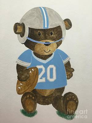 Painting - Benny Bear Football by Tamir Barkan