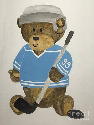 Painting - Benny Bear Hockey by Tamir Barkan