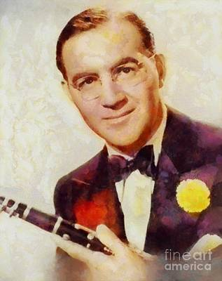 Rock And Roll Royalty-Free and Rights-Managed Images - Benny Goodman, Music Legend by Sarah Kirk