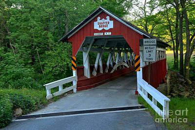 Photograph - Bens Creek Covered Bridge by Adam Jewell