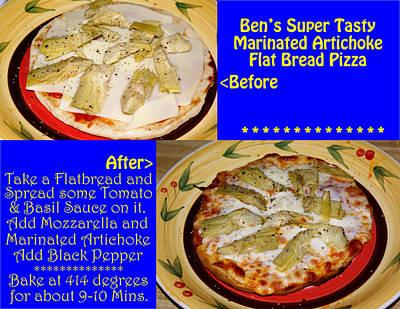 Photograph - Ben's Super Tasty Marinated Artichoke Flat Bread Pizza by Ben Upham III