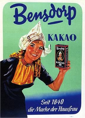 Mixed Media - Bensdorp Kakao - Germany - Vintage Cocoa Advertising Poster by Studio Grafiikka