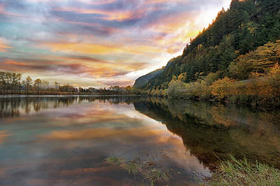 Pacific Northwest Photograph - Benson State Recreation Area In Fall by David Gn