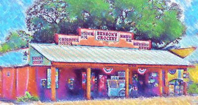 Photograph - Benson's Grocery In Bonita Springs In Pastel by Ginger Wakem