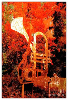 Mixed Media - Bent Horn by Bob Pardue