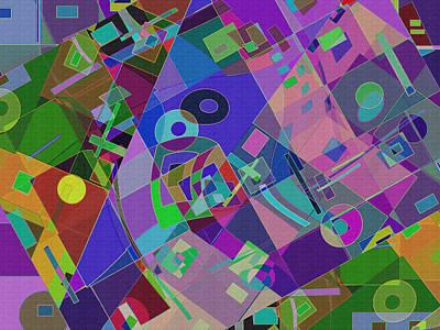 Digital Art - Bent Shapes 14 by Lynda Lehmann