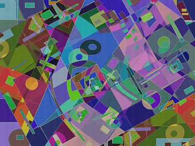 Digital Art - Bent Shapes 15 by Lynda Lehmann