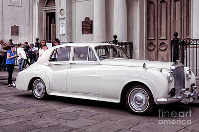 Photograph - Bentley At St.louis Cathedral - Nola by Kathleen K Parker