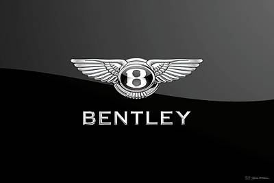 Bentley Badge - Luxury Edition On Black Original