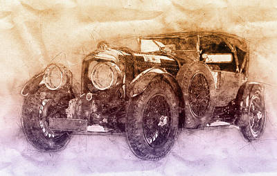 Mixed Media Royalty Free Images - Bentley Blower No.1 - Sports Car 2 - Automotive Art - Car Posters Royalty-Free Image by Studio Grafiikka