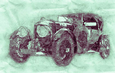 Mixed Media Royalty Free Images - Bentley Blower No.1 - Sports Car 3 - Automotive Art - Car Posters Royalty-Free Image by Studio Grafiikka