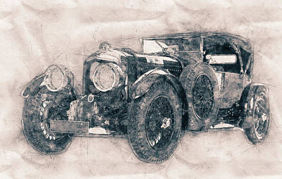 Transportation Mixed Media - Bentley Blower No.1 - Sports Car - Automotive Art - Car Posters by Studio Grafiikka