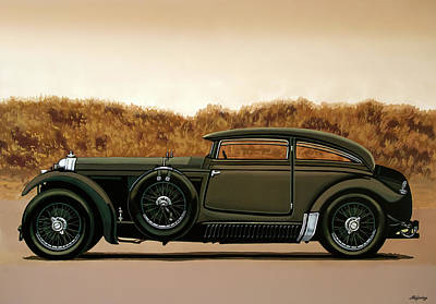 Painting - Bentley Blue Train 1930 Painting by Paul Meijering