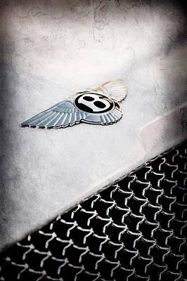 Photograph - Bentley Emblem -1161ac by Jill Reger