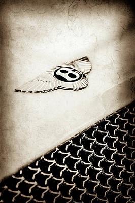 Photograph - Bentley Emblem -1161s by Jill Reger