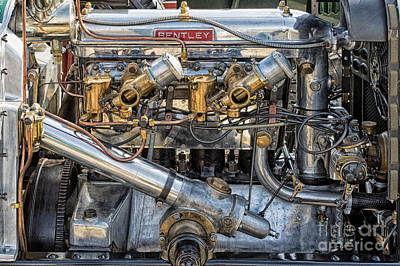 Photograph - Bentley Engine by Tim Gainey